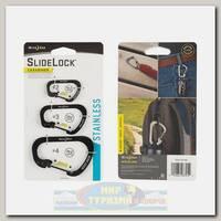 Карабин Nite Ize SlideLock® Stainless Steel (3 шт.) Black