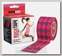 Кинезиотейп Rocktape Design, 5см х 5м, Розовый Узор
