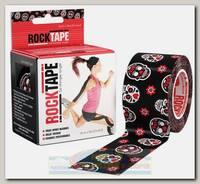 Кинезиотейп Rocktape Design, 5см х 5м, черный с черепами