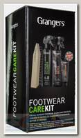 Набор для ухода за обувью Grangers Footwear Repel, Footwear Cleaner,Leather Conditioner