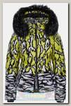 Куртка женская SportAlm Top Druck m.Kap+P Yellow