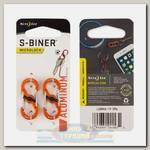 Карабин Nite Ize S-Biner® MicroLock® Aluminum Orange