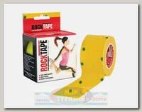Кинезиотейп RockTape Design, 5см х 5м желтый со звездами