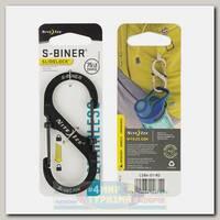 Карабин Nite Ize S-Biner® SlideLock® Stainless Steel #4 Black