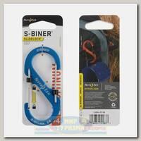 Карабин Nite Ize S-Biner® SlideLock® Aluminum #4 Blue
