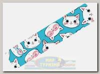 Кинезиотейп BBTape 5см x 5м Котята голубые