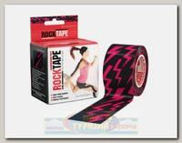Кинезиотейп Rocktape Design, 5см х 5м, Pink Lightning