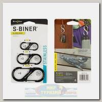 Карабин Nite Ize S-Biner® SlideLock® Stainless Steel (3 шт.) Black