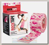 Кинезиотейп Rocktape Design, 5см х 5м, Камуфляж Розовый