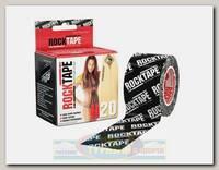 Кинезиотейп Rocktape H2O, 5 см х 5 м, черный логотип