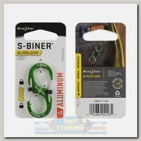 Карабин Nite Ize S-Biner® SlideLock® Aluminum #2 Lime