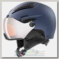 Горнолыжный шлем Uvex 600 Visor Синий Матовый