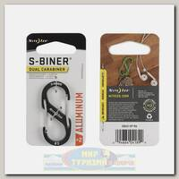 Карабин Nite Ize S-Biner® Aluminum #2 Charcoal