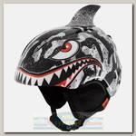 Горнолыжный шлем детский Giro Launch Plus Black/Grey Tiger Shark