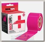 Кинезиотейп Rocktape RX, 5см х 5м, Розовый