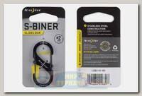 Карабин Nite Ize S-Biner® SlideLock® Stainless Steel #2 Black