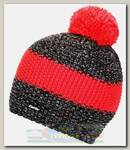 Шапка Eisbar Styler Pompon MU Grey/Red/Black