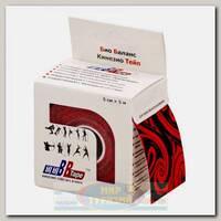 Кинезиотейп BBTape 5см x 5м Тату черно-красное