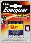 Батарейка Energizer MAX Alk E92/AAA BP4