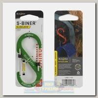 Карабин Nite Ize S-Biner® SlideLock® Aluminum #4 Lime