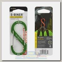 Карабин Nite Ize S-Biner® Aluminum #4 Lime