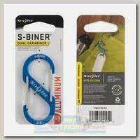 Карабин Nite Ize S-Biner® Aluminum #3 Blue