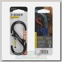 Карабин Nite Ize S-Biner® SlideLock® Aluminum #4 Charcoal
