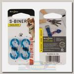 Карабин для адресника Nite Ize S-Biner® TagLock® Aluminum Blue