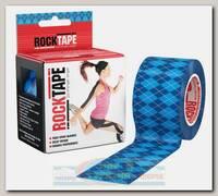 Кинезиотейп Rocktape Design, 5см х 5м, Синий Узор