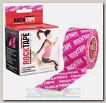 Кинезиотейп Rocktape Classic, 5 см х 5 м, Розовый логотип