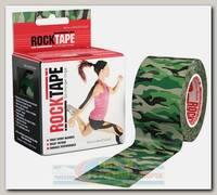 Кинезиотейп Rocktape Design, 5см х 5м, камуфляж зеленый